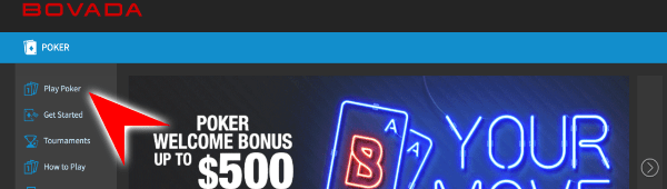 Play Poker at Bovada